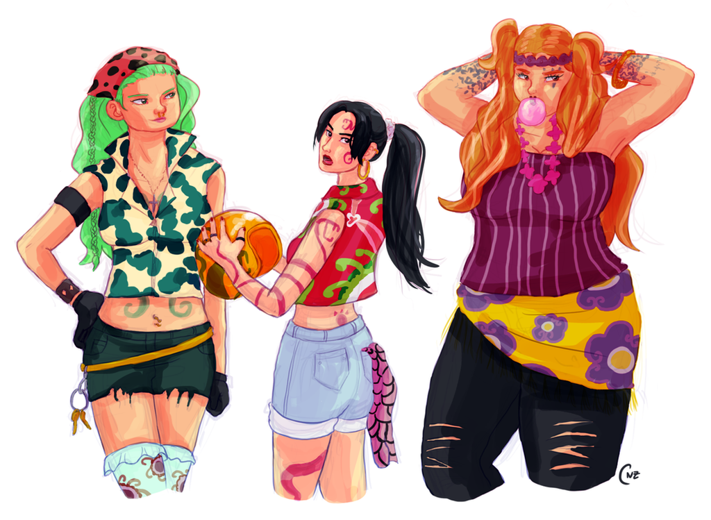 Gorgon Sisters One Piece Gorgon Gang by CodeNam...
