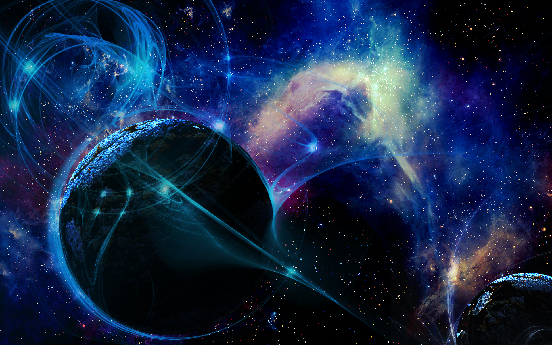 Planet Aura HD Background by BadAbstraction