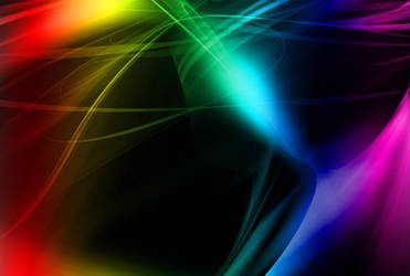 Rainbow Lights HD Background by BadAbstraction