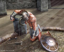 Death of a Gladiator by goatlord51