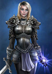 Erika the Paladin by goatlord51
