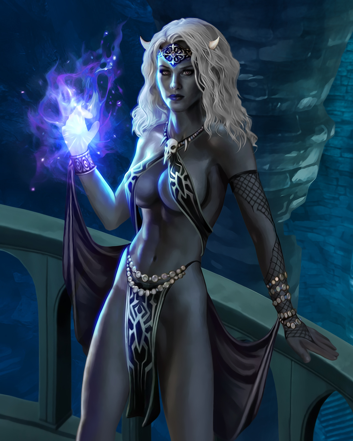 Dark elf witch naked sex photo