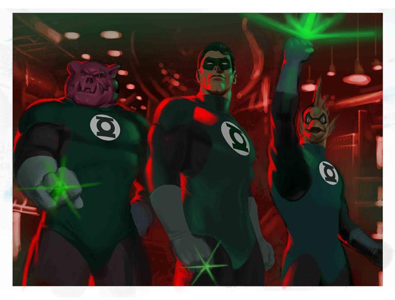 Green Lantern Corps by mannyclark