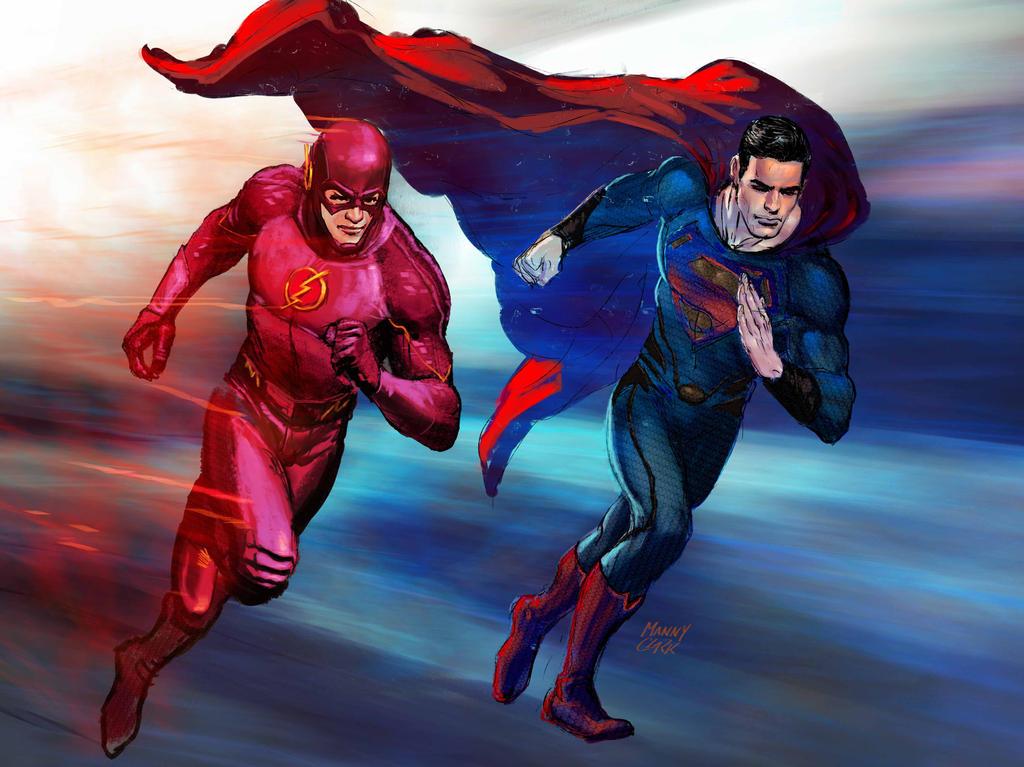 The Flash X Superman by mannyclark on DeviantArt