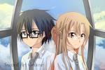 MEGANE Kirito and Asuna