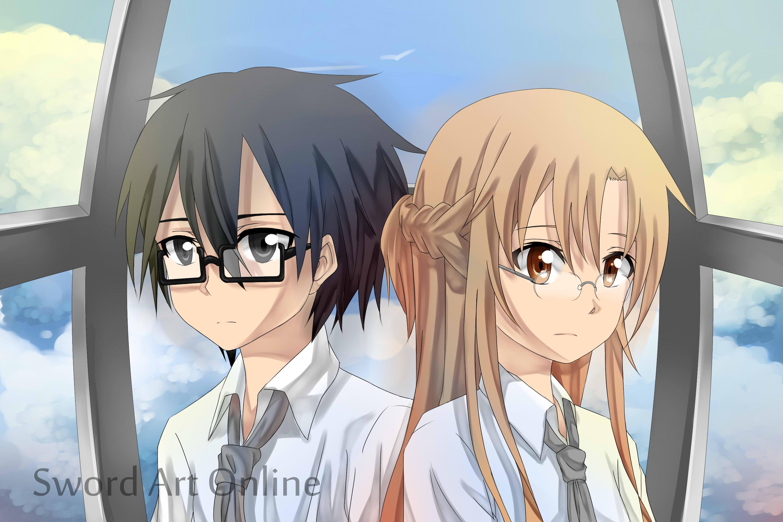 MEGANE Kirito and Asuna by Latte7