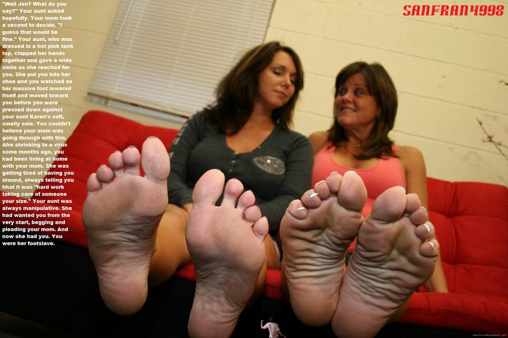 Foot lick woman
