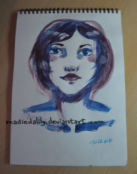 Acrylic, Purple by MadieDalily