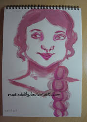 Acrylic, Pink by MadieDalily