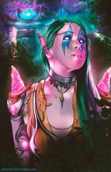 Night Elf Druid by thatstevenrice