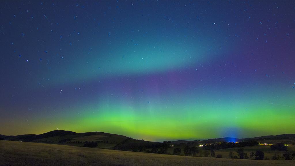 Aurora Over Auchterhouse by Greg-McKinnon