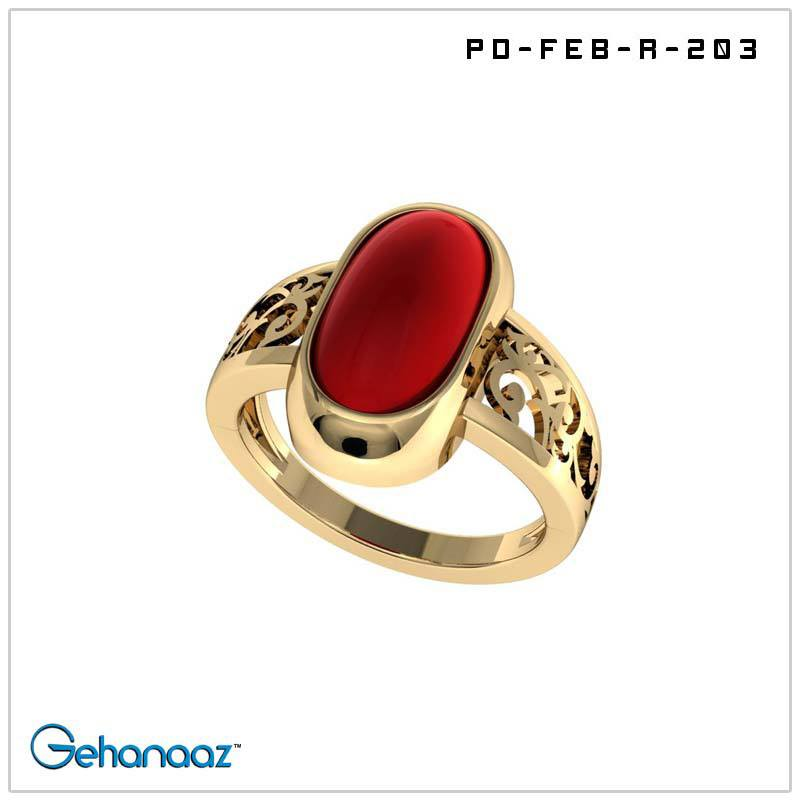 Buy this 14 18 Gold Carat Rashi Ratan Ring with by Gehanaaz on