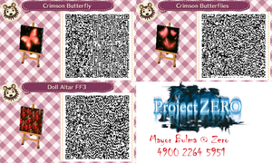 Various FF QR Codes for Animal Crossing: New leaf