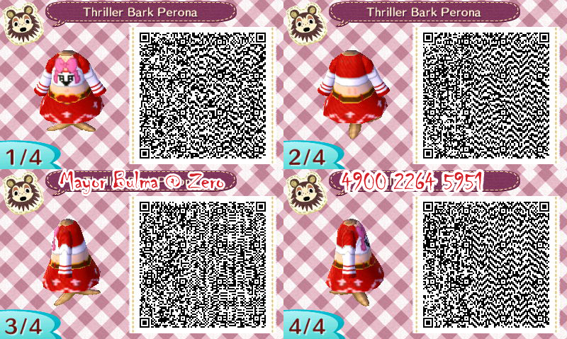 Perona QR code for Animal Crossing  New leaf by TeenBulmaQr Codes Animal Crossing New Leaf Pokemon
