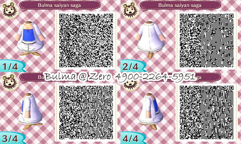 Bulma Saiyan Saga QR code for AC:NL by TeenBulma on DeviantArt