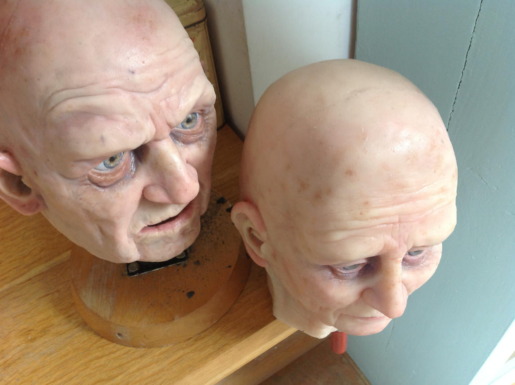 Silicone puppet heads