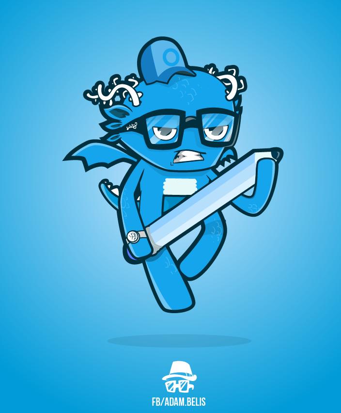 Blue dragon by x-m4n
