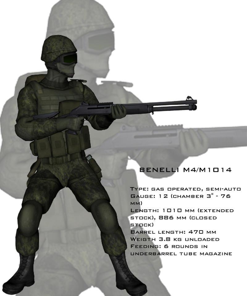 M1014 3D soldier test by  M1014 Combat Shotgun