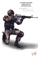 Starkwater Security agent by Playworkart by Dangerman-1973