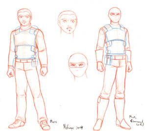 Mercs character design PP short comic preview 2