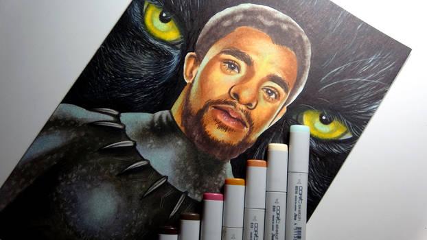 BLACK PANTHER (Chadwick Boseman) - Copic Sketch