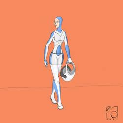 Kalama On space Suit