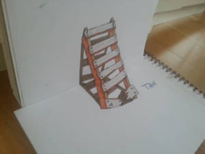 Impossible ladder.