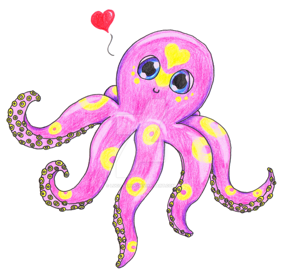Pink Octopus by LuciaSeriin