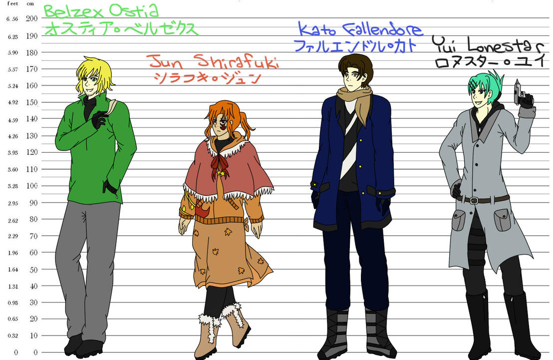 6 Foot Tall Anime Characters : Phoenix wings height chart by jstarpye on deviantart