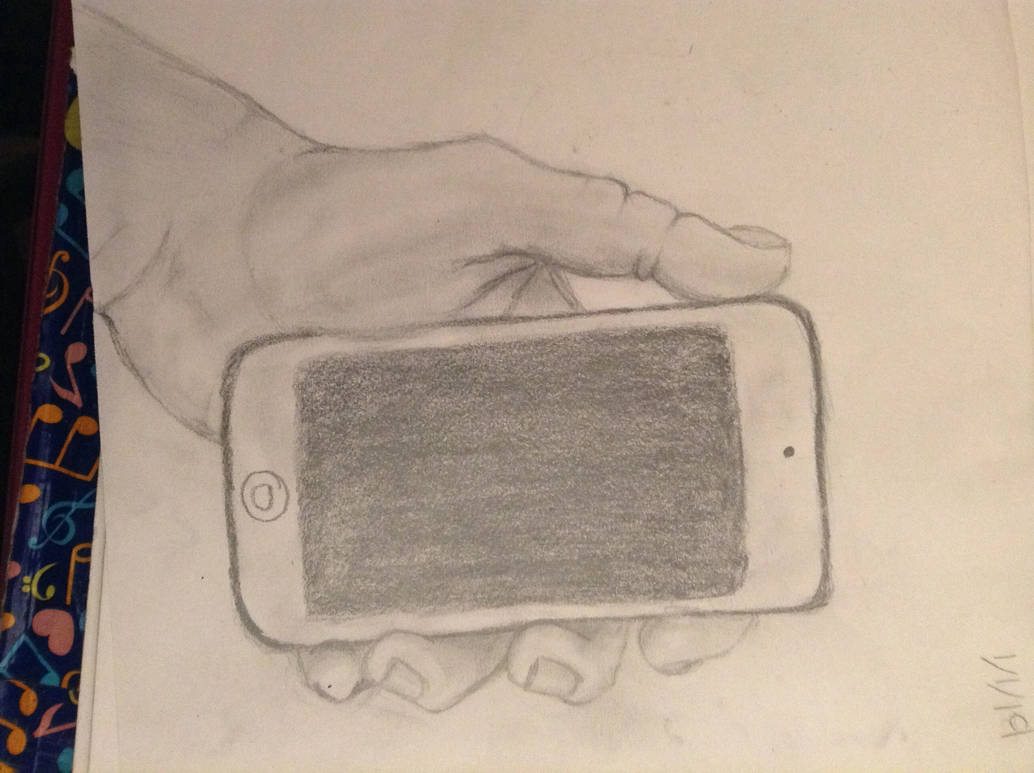 My own hand holding a phone by Savy104