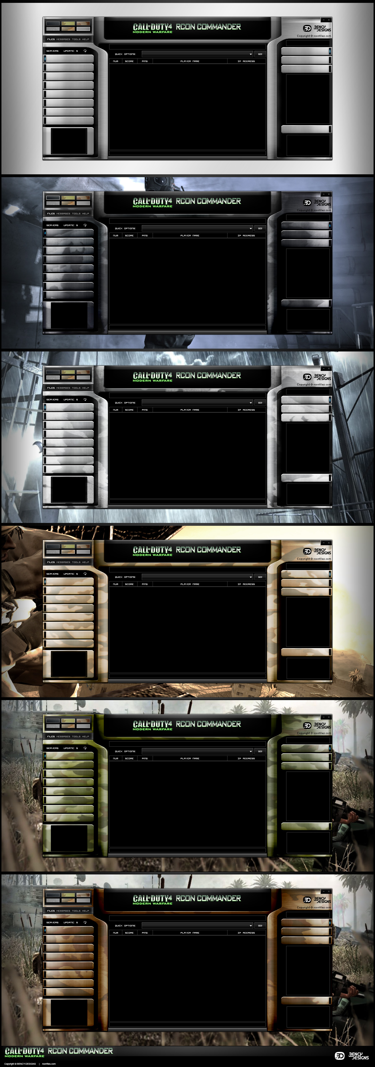 How to add skins to cod4