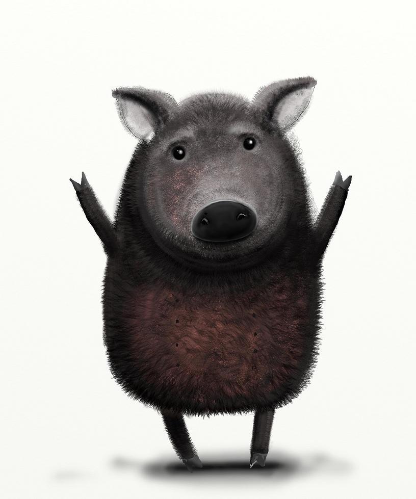 Wild boar by rozalek