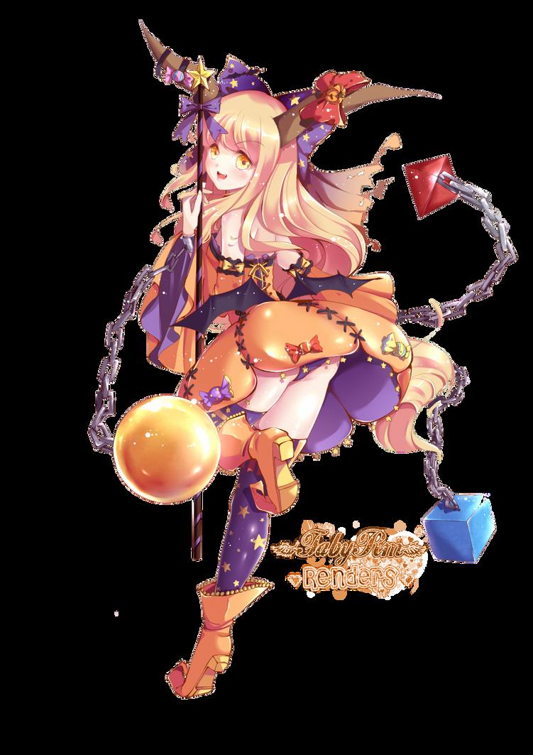 Renders Mangas Divers Halloween_special_ibuki_suika_by_fabyrm-d6pgerd
