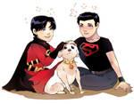 boys and dog