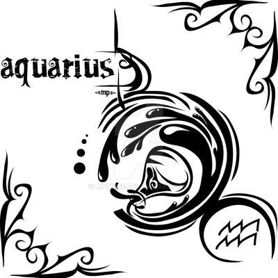 Zodiac Sign Tattoo  Aquarius By MPtribe On DeviantArt