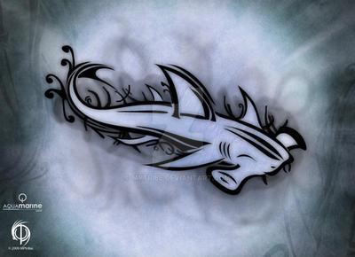 AquaMarine : Hammerhead Shark by MPtribe