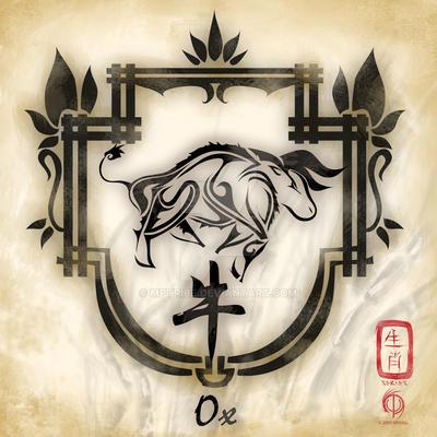 Chinese Zodiac : Ox by MPtribe on DeviantArt