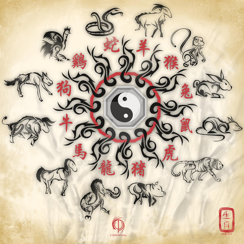 Chinese zodiac sign tattoo by mptribe on deviantart for Tattoo horoscope signs