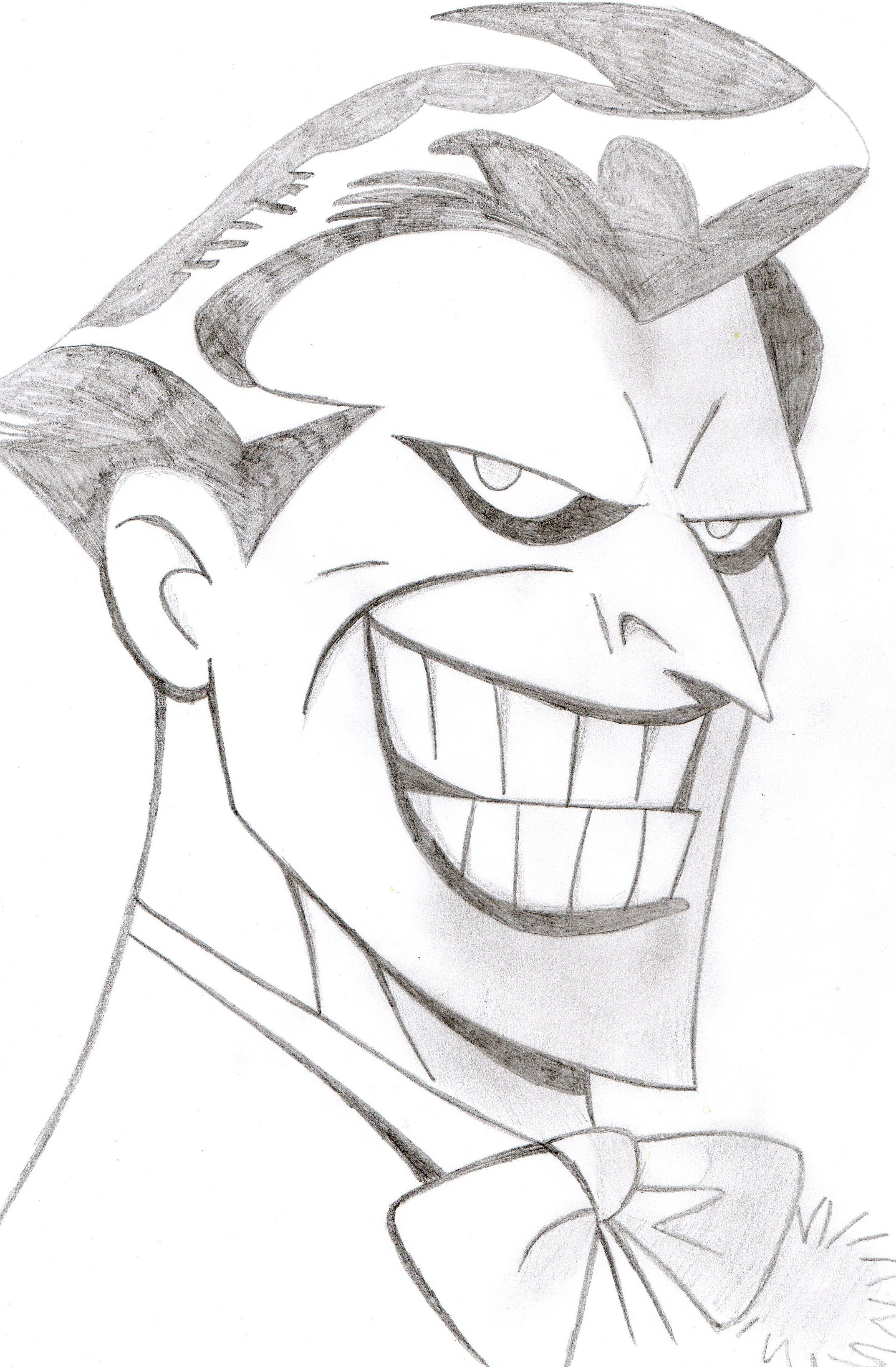Joker portrait by bangcreative on deviantart for Cool drawings cartoon