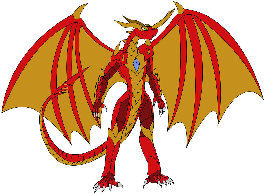 Bakugan Reboot - Drago (coloured) by JakeBurner