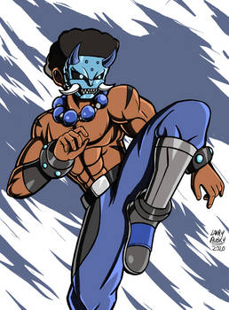 Blue Mask Devil