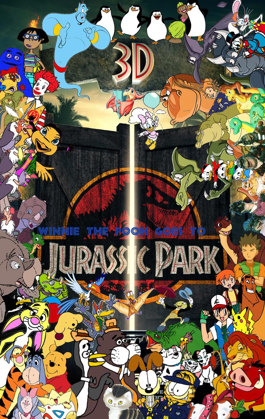 Winnie the Pooh Goes to Jurassic Park poster by YakkoWarnerMovies101 ...