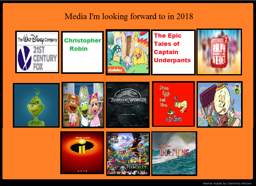 Media I M Looking Forward In 2018 By Yakkowarnermovies101
