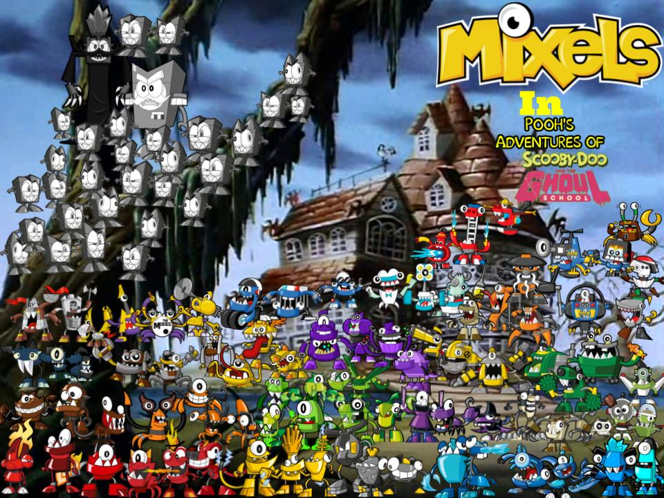 mixels in poohghoul school film poster by