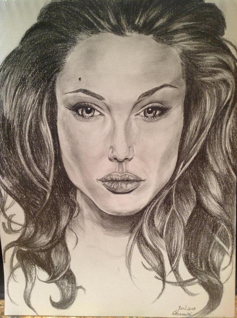 Angelina Jolie by Dmanavai