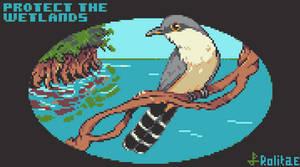 Mangrove (Mangrove Cuckoo) - Pixel Dailies