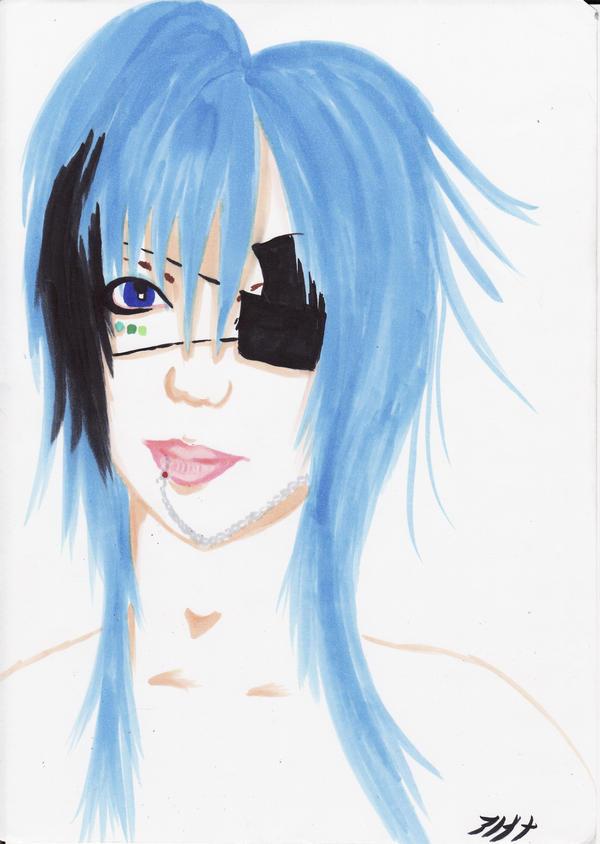 Blue hair boy -VisualKei band-