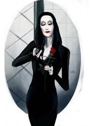Morticia Addams by blood1ess