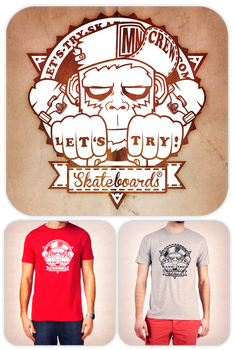 T-shirt Let's Try VS MnkCrew