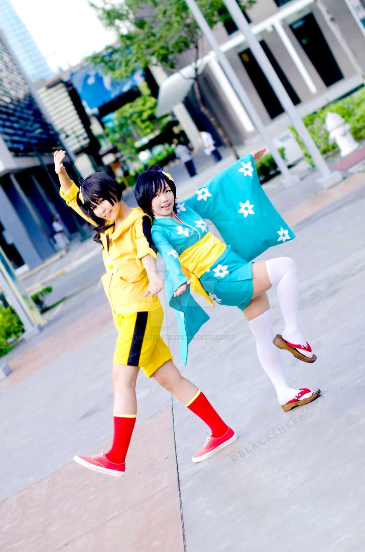 Nisemonogatari: Fire Sisters by LoliJellyBunny